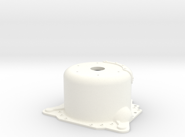 """1/12 Lenco 9.4"""" Dp Bellhousing(With Starter Mnt) in White Strong & Flexible Polished"""