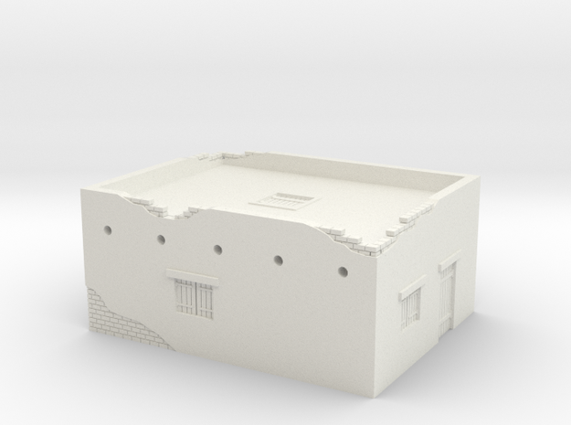 Desert House 1/100 in White Natural Versatile Plastic