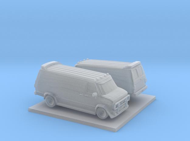 1/200 2X GMC Vandura Van in Smoothest Fine Detail Plastic