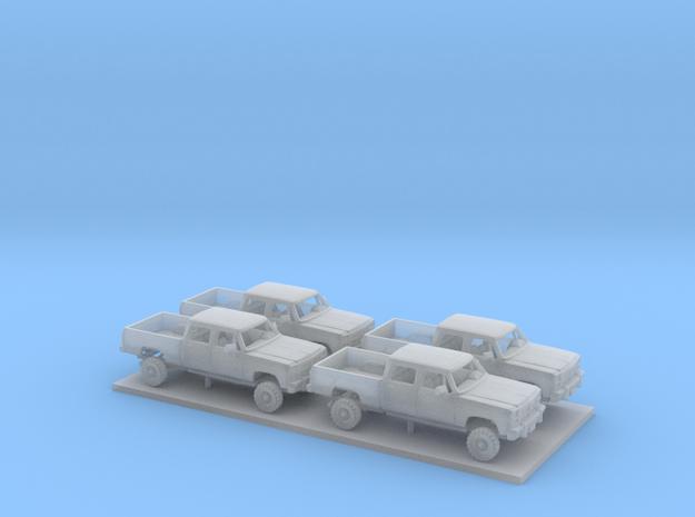 1/200 4X1991-93 Dodge Ram Crew Cab  Kit in Smooth Fine Detail Plastic