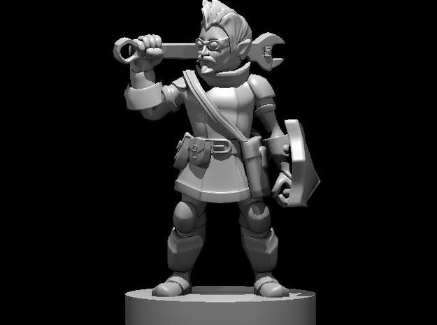 Gnome Male Battle Smith Artificer in Smooth Fine Detail Plastic