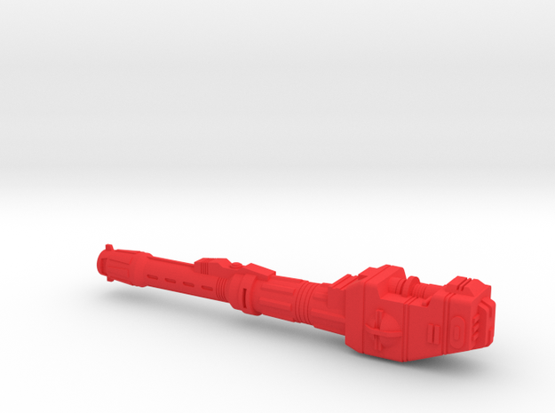 Starcom - Sky Roller - Rear Cannon on the left in Red Processed Versatile Plastic