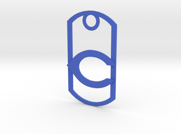 "Carlsbad ""C"" dog tag in Blue Processed Versatile Plastic"