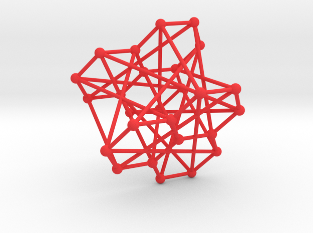 Levi Graph for PG(2,3) in Red Processed Versatile Plastic