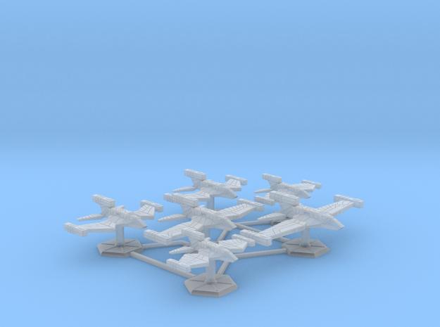 7000 Scale Paravian Fleet Raider Collection SRZ in Smooth Fine Detail Plastic