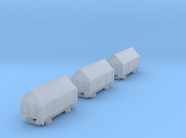 T-gauge 3 Salt trucks  - Custom Wheels, see descri in Smooth Fine Detail Plastic