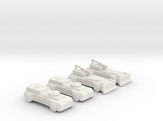 285 Scale Romulan Cassowary-Es and Cassowary-Cs  in White Natural Versatile Plastic