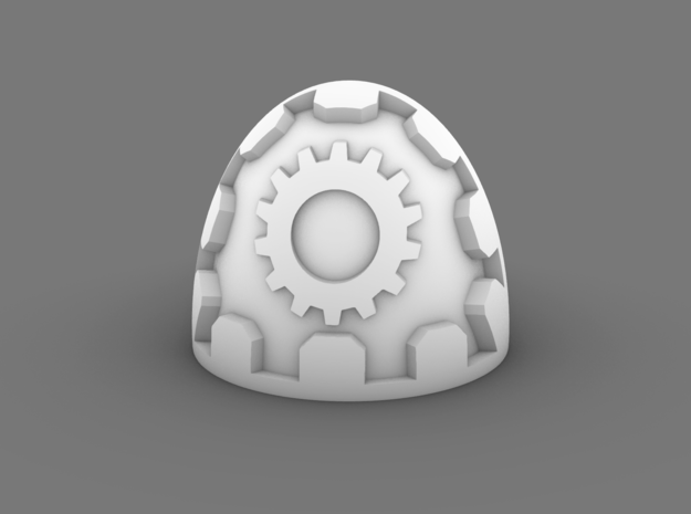 Space Knight V7 Gear Ring Tech Marine Pads in Smooth Fine Detail Plastic