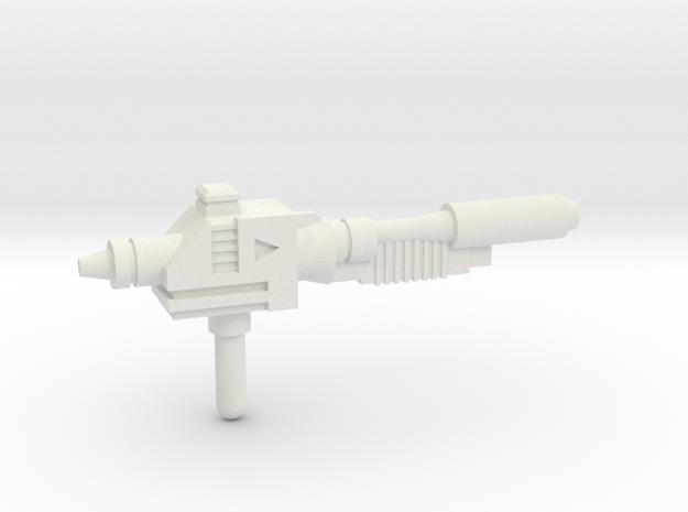 Sideswipe blaster in White Natural Versatile Plastic