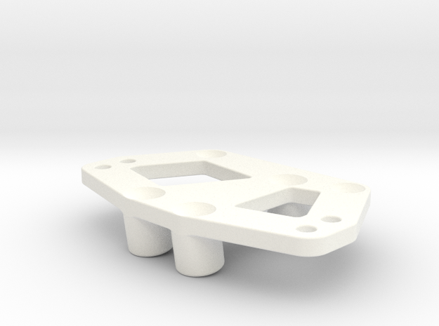 Servo and 4-link mount for the Losi MRC in White Strong & Flexible Polished