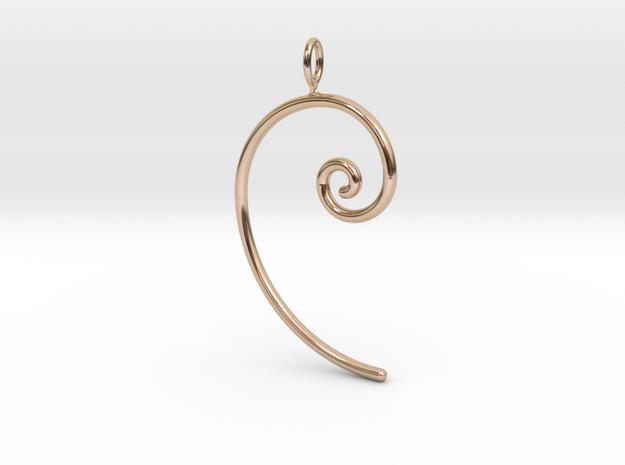 Fibonacci spiral, according to the golden ratio