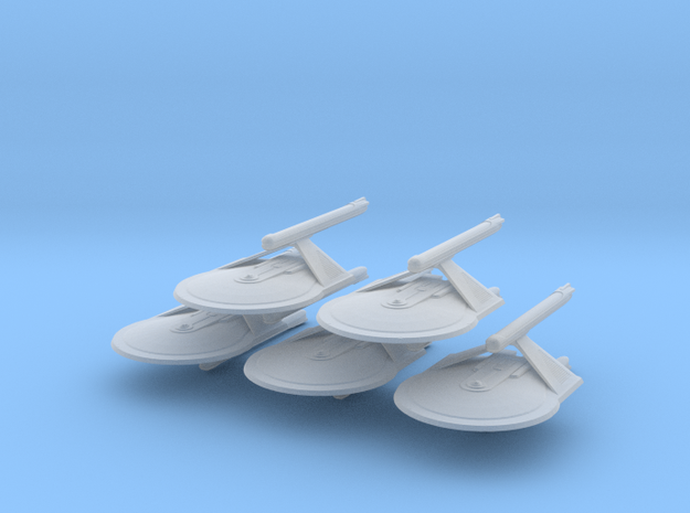 1/10000 Larson v3a Dual Naceles - 5 ships pack in Smooth Fine Detail Plastic