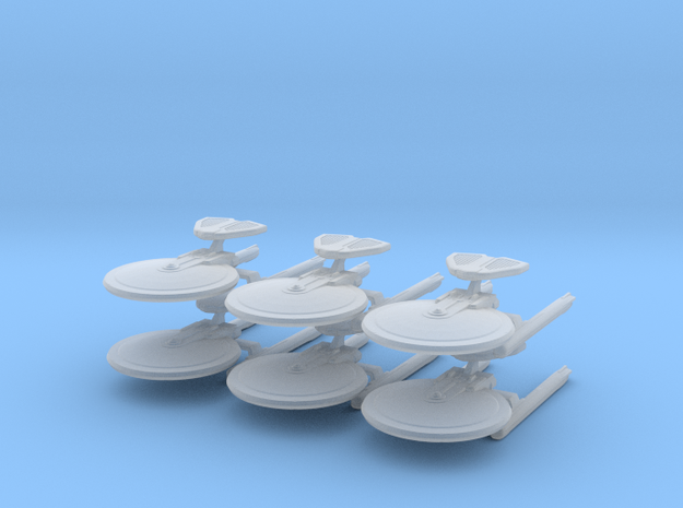 1/10000 - Hutzel A ECM Cruiser - 6 ships pack in Smooth Fine Detail Plastic