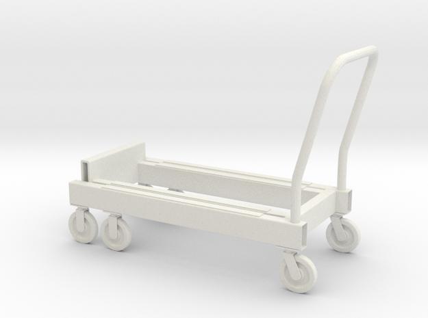 1:14 Carrier special Spezialhandwagen in White Natural Versatile Plastic