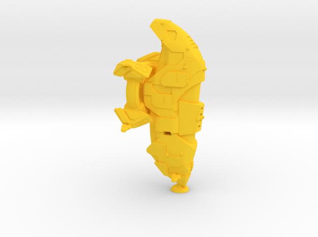 Ameratsu Class Lt Monitor - 1:20000 in Yellow Processed Versatile Plastic