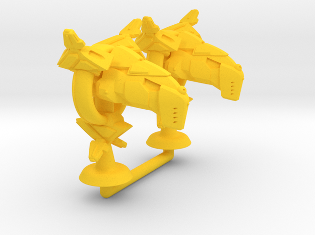 Arashi Class Light Strike Frigate - 1:20000 in Yellow Processed Versatile Plastic