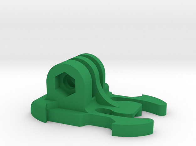 Quick Release Mount for GoPro in Green Processed Versatile Plastic
