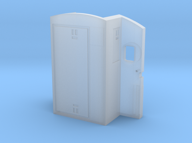 RF16 Sharknose Cab Rear Wall (S scale) in Smooth Fine Detail Plastic