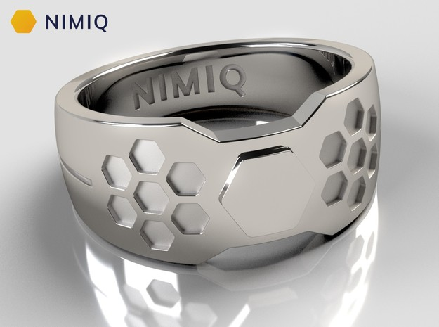 Nimiq Ring in Polished Silver: 10 / 61.5