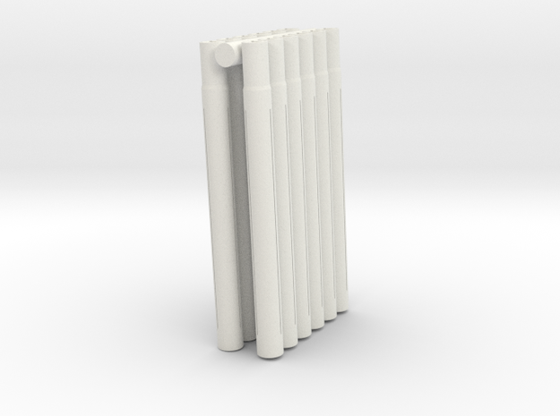 Expandable Barrel Lap: Long Version (12 Pack) in White Natural Versatile Plastic