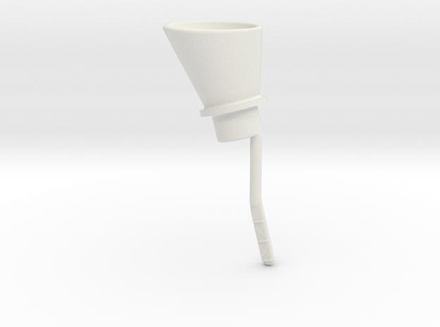 Oil Funnel in White Natural Versatile Plastic