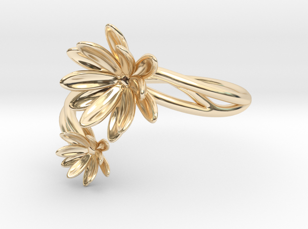 Waterlily Ring Size 8--18.2mm in 14K Yellow Gold