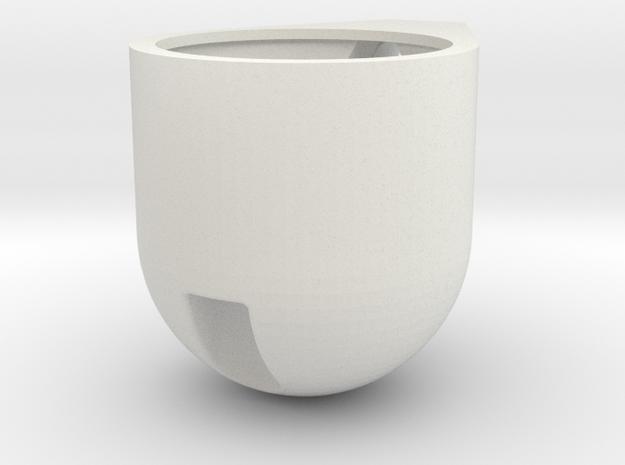 Gauge-pod in White Natural Versatile Plastic