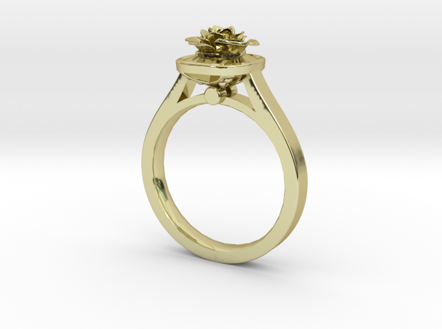 Flower Ring 39 (Contact to Add Stones) in 18K Yellow Gold