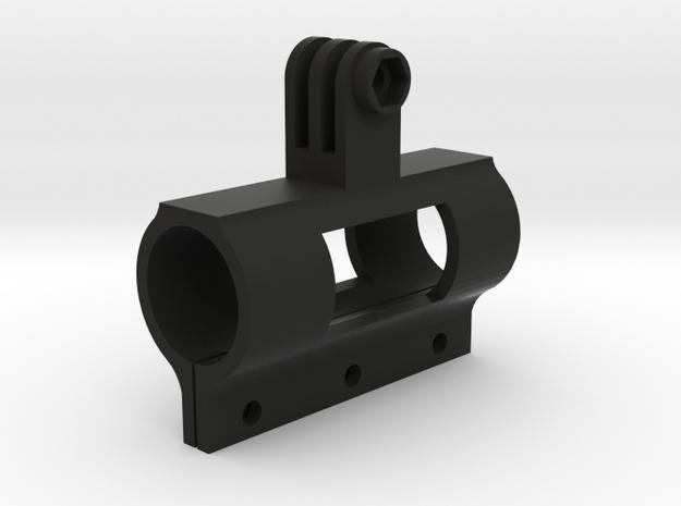 Rifle Barrel Mount 25mm for a GoPro (all models) in Black Natural Versatile Plastic