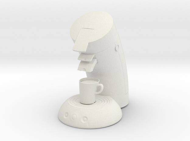 1:14 Coffee machine Kaffeemaschine in White Natural Versatile Plastic