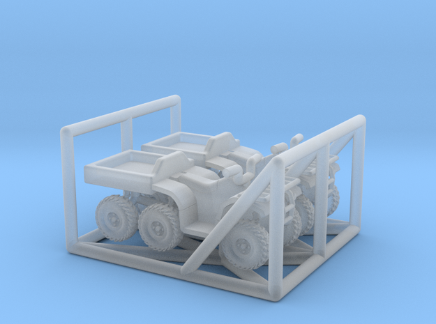 N Scale 6-Wheel ATV 2pc in Smooth Fine Detail Plastic