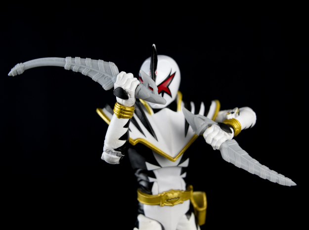 LC DT WHITE SWORD SET in Smooth Fine Detail Plastic