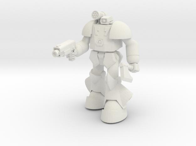 SAN-X9 BuruBuru (Pose A) in White Natural Versatile Plastic