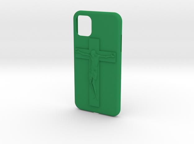 IPhone 11 Jesus Cover in Green Processed Versatile Plastic