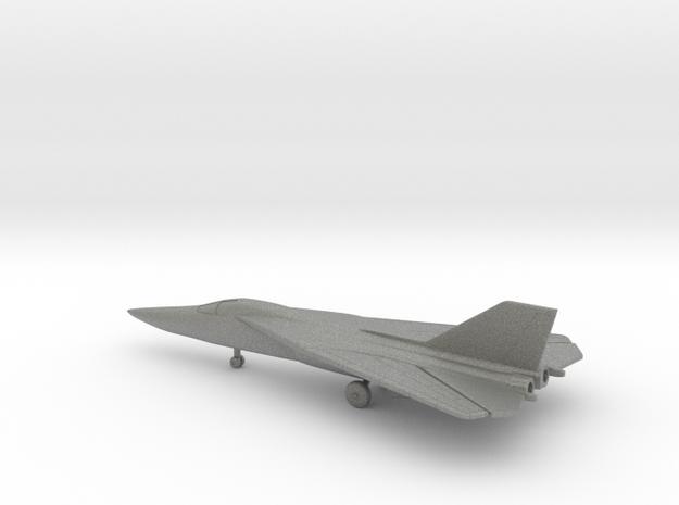 General Dynamics F-111A Aardvark (swept wings) in Gray PA12: 6mm