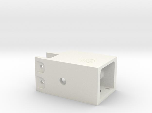 Pan and Tilt Head Base in White Natural Versatile Plastic