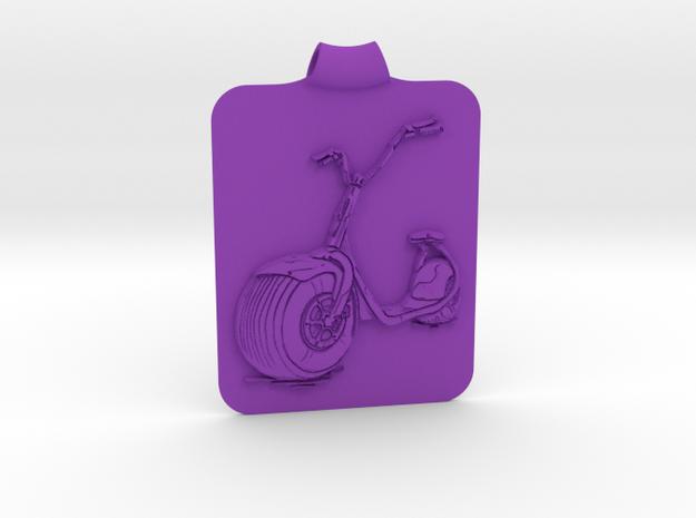 Scooter Key Fob in Purple Processed Versatile Plastic