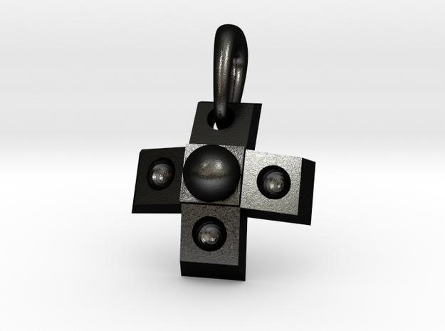 GamePad Charm in Matte Black Steel