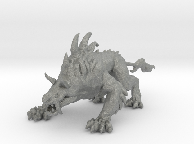 Hell hound miniature model fantasy games rpg DnD in Gray PA12