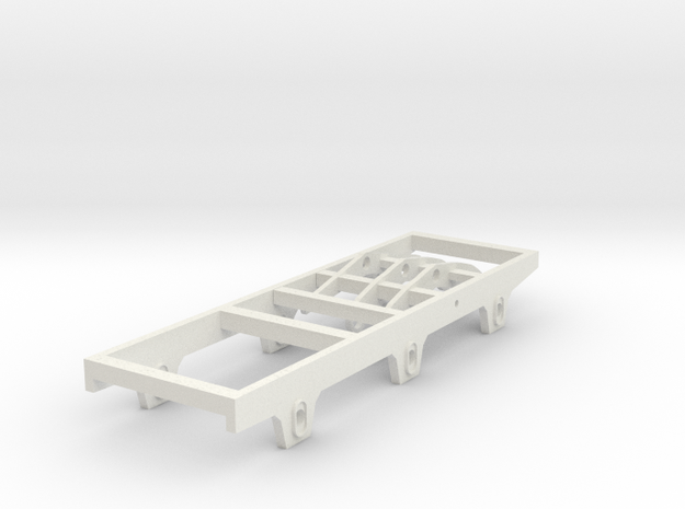 GWR Broad gauge 3000 gallon tender chassis  in White Natural Versatile Plastic