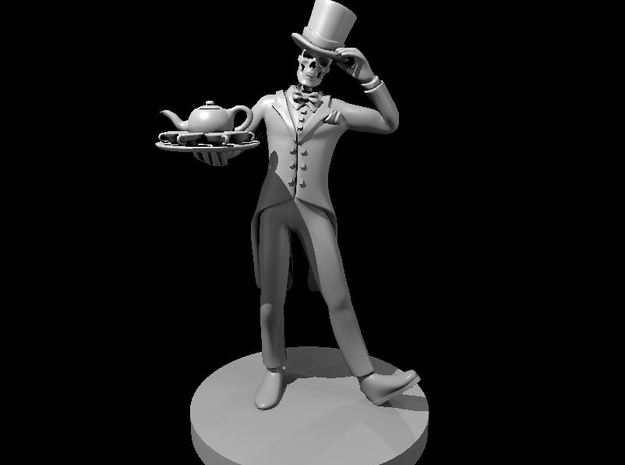 Skeleton Butler in Smooth Fine Detail Plastic