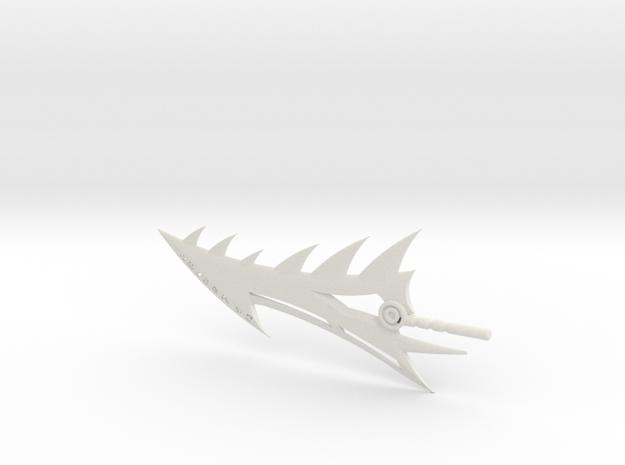 Age of Extinction Grimlock Spinal Sword in White Natural Versatile Plastic