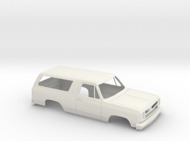 1/25 1978/79  Dodge Ramcharger Shell in White Natural Versatile Plastic
