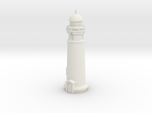 Lighthouse (round) 1/76 in White Natural Versatile Plastic