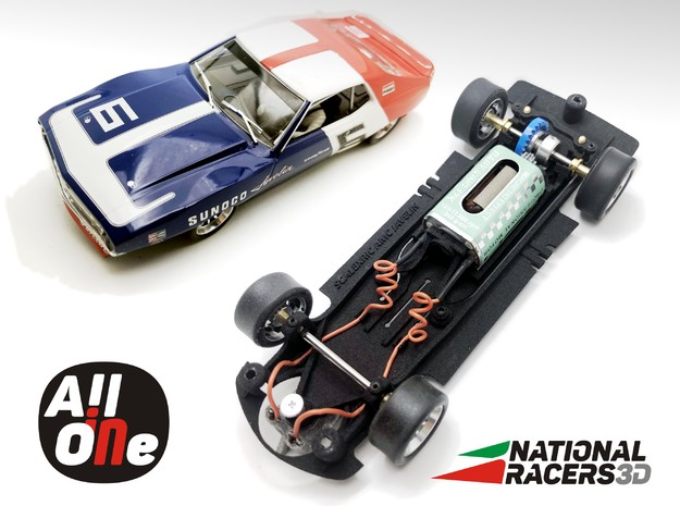 Chassis - SCALEXTRIC AMC JAVELIN (In-AiO) in Black PA12