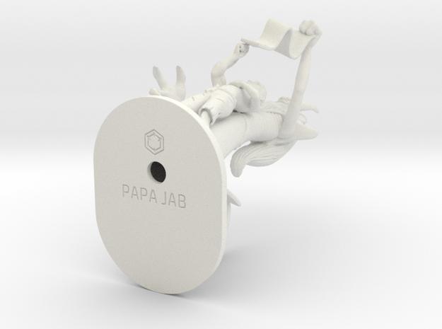 PAPA_JAB_111.99mm in White Natural Versatile Plastic