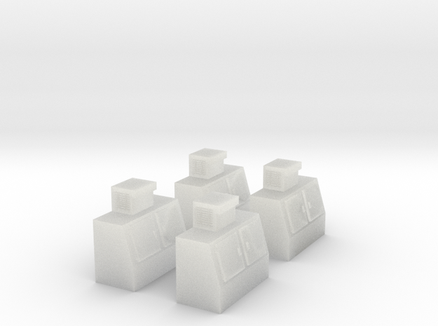 N-Scale Double Door Cooler - 4 Pack in Smooth Fine Detail Plastic