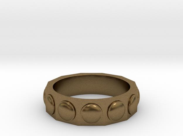 Dalek Ring in Raw Bronze: 6 / 51.5