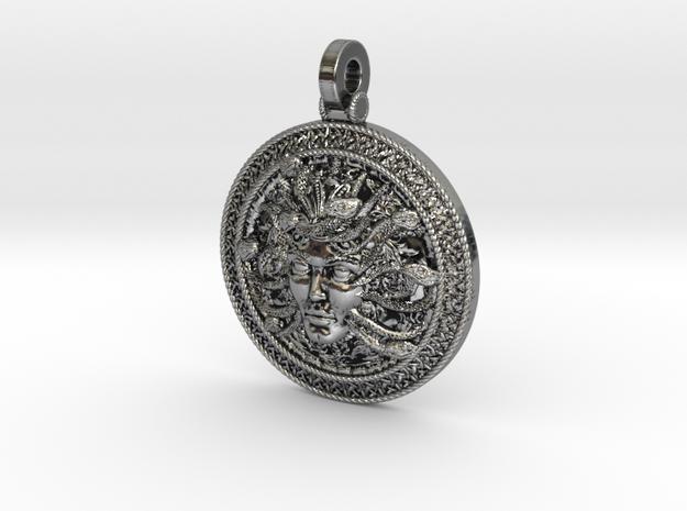 Medusa silver pendant  in Antique Silver