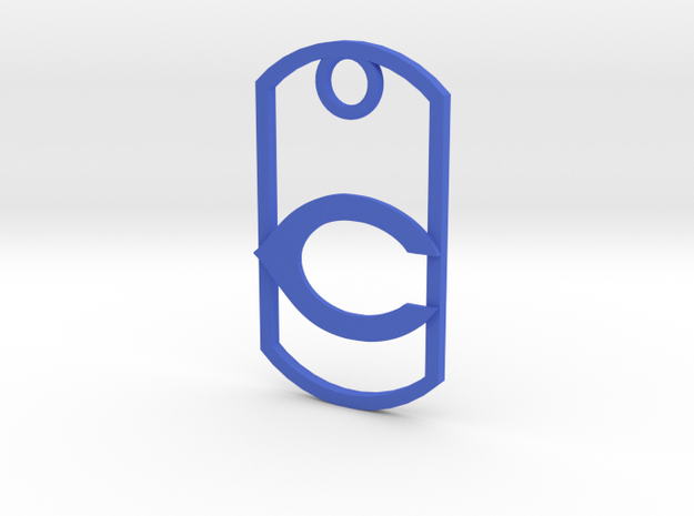 "Carlsbad ""C"" key fob in Blue Strong & Flexible Polished"